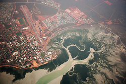Aerial view of Broome and Dampier Creek from 8,000 ft.