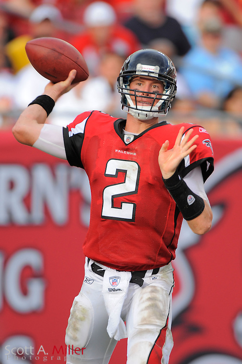 Atlanta Falcons quarterback Matt Ryan (2) during the Falcons game against the Tampa Bay Buccaneers at Raymond James Stadium on Sept. 25, 2011 in Tampa, FL...©2011 Scott A. Miller