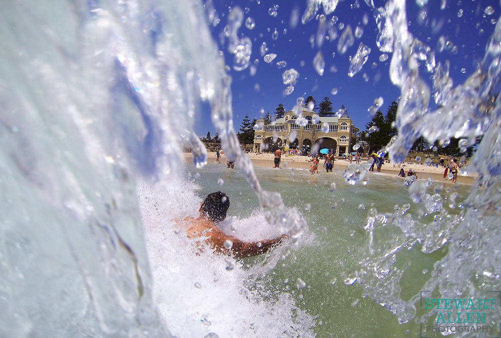 1. WA Press Photographer of the Year. <br /> Stewart Allen.       <br /> The Sunday Times. <br /> The first hot day of summer brings crowds to Cottesloe beach.