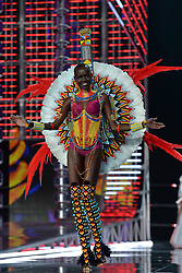 Grace Bol on the catwalk for the Victoria's Secret Fashion Show at the Mercedes-Benz Arena in Shanghai, China.