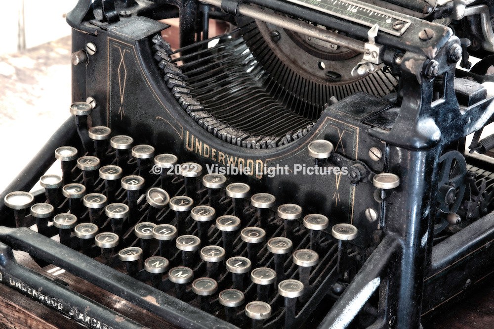 Underwood typewriter, Type No. 5.  Manufactured most likely around 1900 teens or twenties.