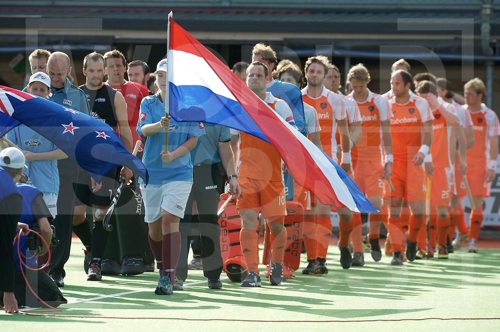 AUCKLAND - Champions Trophy men.Netherlands v New Zealand.foto: Opkomst Nederlands elftal..FFU Press Agency  COPYRIGHT FRANK UIJLENBROEK..