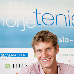 20130620: SLO, Tennis - Press conference of ATP Challenger Tilia Slovenia Open
