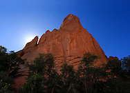 Strange rock forms at Garden of the Gods State Park, Colorado Springs, Colorado, USA