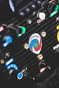 October 11-13, 2018: IMSA Weathertech Series, Petit Le Mans: Panoz racing steeting wheel detail