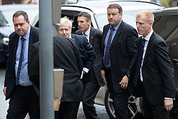 © Licensed to London News Pictures. 09/07/2019. Salford, UK. BORIS JOHNSON arrives . Boris Johnson and Jeremy Hunt attend a televised hustings at Media City. One of the two will be the next Conservative Party Leader and British Prime Minister. Photo credit: Joel Goodman/LNP