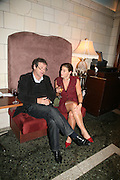 TARQUIN GOTCH AND EMMA GROVE, Book launch for 'the Anti-social Behaviour of Horace Rumpole' by John Mortimer and 'A Voyage Round John Mortimer' by Valerie Grove. -DO NOT ARCHIVE-© Copyright Photograph by Dafydd Jones. 248 Clapham Rd. London SW9 0PZ. Tel 0207 820 0771. www.dafjones.com.