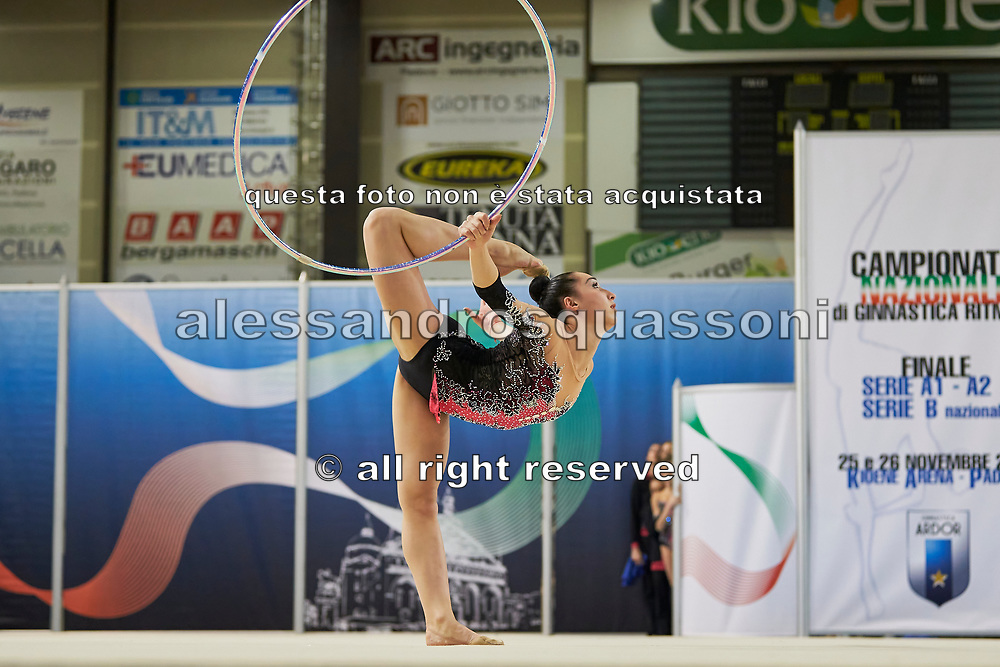 Salome Pazhava from Pontevecchio team during the Italian Rhythmic Gymnastics Championship in Padova, 25 November 2017.