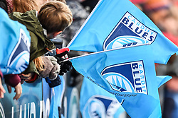 Cardiff Blues branded flags - Mandatory by-line: Craig Thomas/Replay images - 31/12/2017 - RUGBY - Cardiff Arms Park - Cardiff , Wales - Blues v Scarlets - Guinness Pro 14