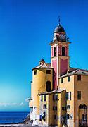 Santa Maria Assunta basilica, Camogli, Liguria, Italy.