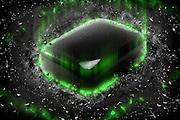 Digitally enhanced Jade Semiprecious Gemstone