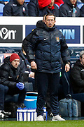 Northampton Town Manager Justin Edinburgh during the EFL Sky Bet League 1 match between Bolton Wanderers and Northampton Town at the Macron Stadium, Bolton, England on 18 March 2017. Photo by Craig Galloway.
