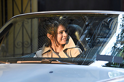 Selena Gomez films on set in downtown manhattan New York, directed by Woody Allen<br />