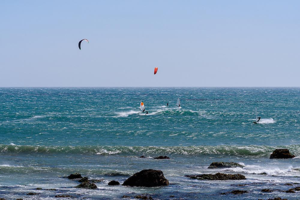 Wind Surfing, San Simeon, California