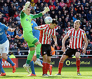 Craig MacGillivray drops the bal during the EFL Sky Bet League 1 match between Sunderland and Portsmouth at the Stadium Of Light, Sunderland, England on 27 April 2019.