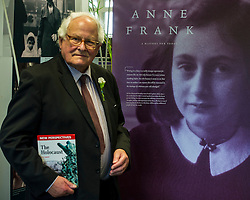 Edinburgh's Bailie Elaine Aitken opened FirrhillHigh School's 'The Anne Frank: A History For Today' exhibition  today. Baillie Aitken was joined by Heather Boyce from the Anne Frank Trust and second generation Holocaust survivors who spoke of their family members' memories of the war. The ceremony was attended by pupils from Firrhill High, local primary schools and retirement home residents from Old Farm Court and Caiystane Court. Pictured: Stephan Brent (85) was one of the 10,000 children which were sent to the UK as part of the Kindertransport. Stephan was 10 whne he arrived in the UK. 29 April 2014 (c) GER HARLEY | StockPix.eu