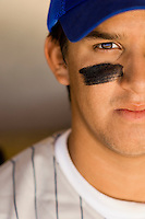 Baseball player with eye black (close-up)