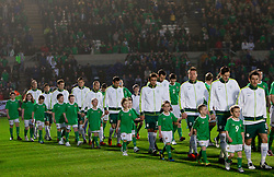 Team of Slovenia during EURO 2012 Quaifications game between National teams of Slovenia and Northern Ireland, on March 29, 2011, in Windsor Park Stadium, Belfast, Northern Ireland, United Kingdom. (Photo by Vid Ponikvar / Sportida)