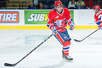 KELOWNA, CANADA -JANUARY 29: Marcus Messier C #13 of the Spokane Chiefs skates against the Kelowna Rockets on January 29, 2014 at Prospera Place in Kelowna, British Columbia, Canada.   (Photo by Marissa Baecker/Getty Images)  *** Local Caption *** Marcus Messier;