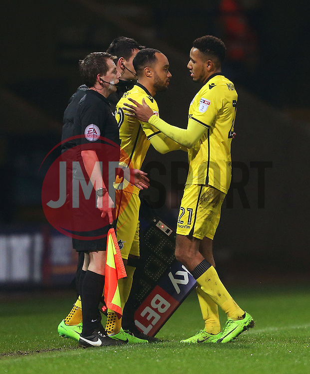 Cristian Montano of Bristol Rovers is replaced by Byron Moore  - Mandatory by-line: Matt McNulty/JMP - 28/02/2017 - FOOTBALL - Macron Stadium - Bolton, England - Bolton Wanderers v Bristol Rovers - Sky Bet League One