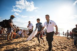 October 20, 2018 - Peniche, Portugal - Japanese surfer Kanoa Igarashi, after finishing the heat. (Credit Image: © Henrique Casinhas/NurPhoto via ZUMA Press)