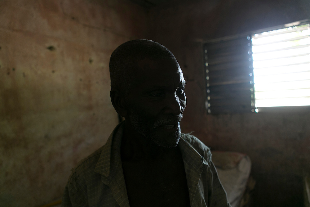 Bony Charles is a 66-year-old Haitian native who lived most of his life as an undocumented worker in the Dominican Republic. Over the past four decades, he has collected at least three sets of working papers with different names: Boni Chalas, Boni Chanel, and Bon&eacute; Chalas. Here he is pictured in his home on Tuesday, Aug. 18, 2015, in Batey Punta Afuera, Dominican Republic. <br /> (Michelle Kanaar/ For the Miami Herald)<br /> Publication Date: Oct. 21, 2015