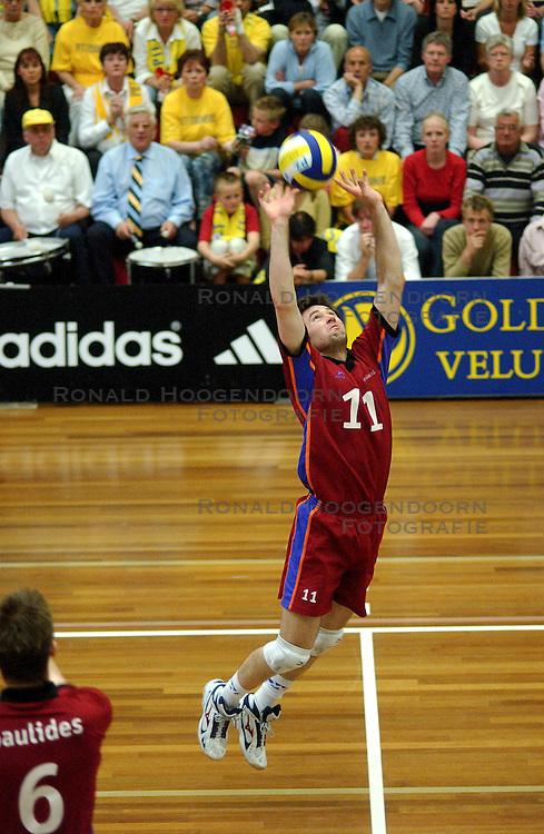 22-04-2003 VOLLEYBAL: PIET ZOOMERS DYNAMO - OMNIWORLD: APELDOORN<br /> Finale play-offs Piet Zoomers wint het landkampioenschap / <br /> &copy;2003-Ronald Hoogendoorn