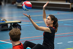 20-04-2019 NED: Dutch Championship Youth Sitting Volleyball, Veenendaal<br /> The future sitting volleyball toppers in action at the National Youth Volleyball Championship in Veenendaal