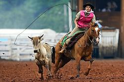 Prova de laço feminino durante o 12 Rodeio Internacional do Mercosul. FOTO: Jefferson Bernardes/Preview.com