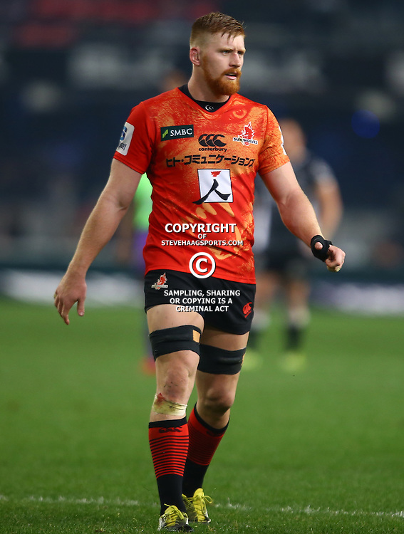 DURBAN, SOUTH AFRICA - JULY 15: Edward Quirk of the Sunwolves during the Super Rugby match between the Cell C Sharks and Sunwolves at Growthpoint Kings Park on July 15, 2016 in Durban, South Africa. (Photo by Steve Haag/Gallo Images)