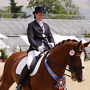 Sylvie Fraser and World Star LHF at the 2010 North American Young Rider Championships in Lexington, Kentucky.