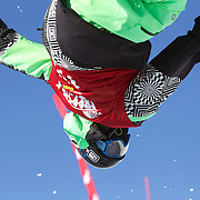 Kentaro Tsuda, Japan, in action in the Men's Halfpipe Finals during The North Face Freeski Open at Snow Park, Wanaka, New Zealand, 3rd September 2011. Photo Tim Clayton.