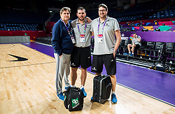 Branko Cveticanin, dr. med., Martin Klesnik, physiotherapist and Marko Macura, dr. med at practice session of Team Slovenia 1 day before final match against Serbia at Day 17 of FIBA EuroBasket 2017 at Sinan Erdem Dome in Istanbul, Turkey on September 16, 2017. Photo by Vid Ponikvar / Sportida