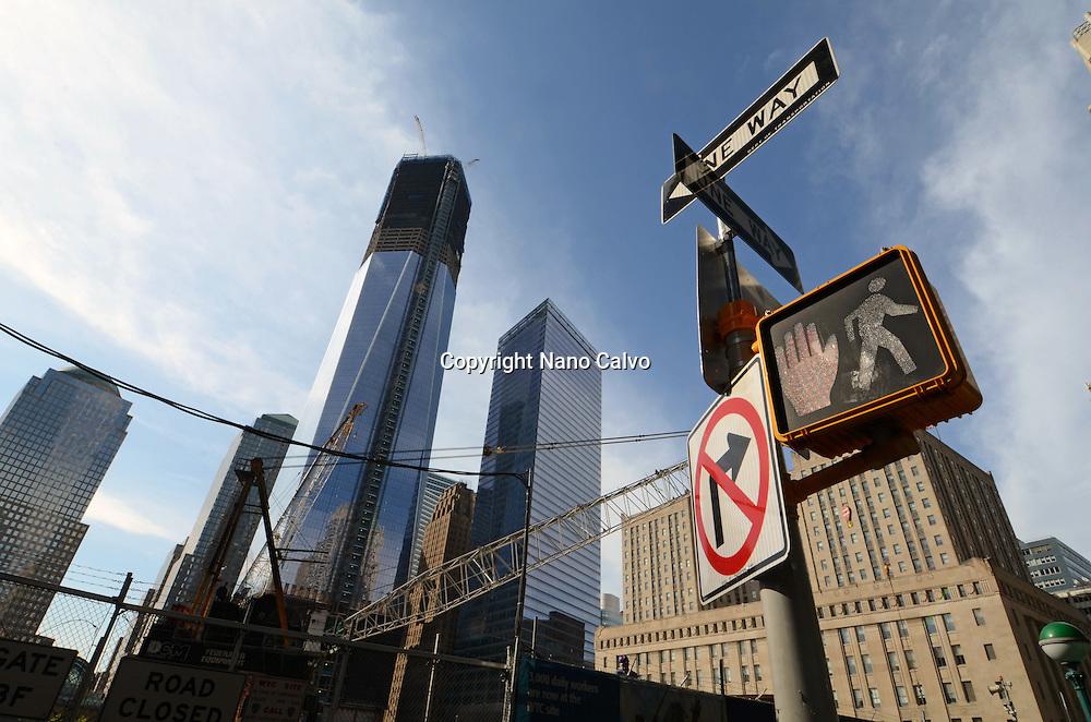 New World Trade Center under construction, Ground Zero, New York