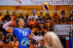 26-08-2017 NED: World Qualifications Netherlands - Slovenia, Rotterdam<br /> De Nederlandse volleybalsters plaatsten zich eenvoudig voor het WK volgend jaar in Japan. Ook Sloveni&euml; wordt met 3-0 verslagen / Sasa Planinsec #18 of Slovenia