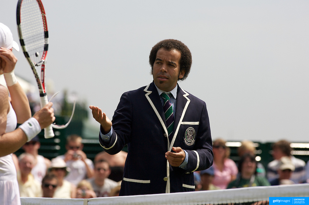 Umpire Kader Nuni during the Sam Stosur, Australia versus Tatjana Malek, Germany, match in the second round of the Ladies Singles competition at the All England Lawn Tennis Championships at Wimbledon, London, England on Thursday, June 25, 2009. Photo Tim Clayton