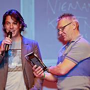 """NLD/Amsterdam/20110623 - Boekpresentatie wielrenner Thomas Dekker """" Schoon Genoeg"""", en zijn vader"""
