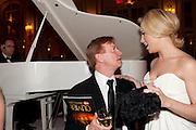 STEPHEN CROCKET; HANNAH WADDINGHAM Post Olivier Awards Gala party. Waldorf Astoria. London. 13 March 2011. -DO NOT ARCHIVE-© Copyright Photograph by Dafydd Jones. 248 Clapham Rd. London SW9 0PZ. Tel 0207 820 0771. www.dafjones.com.