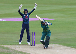 June 15, 2018 - Canterbury, England, United Kingdom - L-R Sarah Taylor of England Women and Dane van Niekerk of South Africa Women.during Women's One Day International Series match between England Women against South Africa Women at The Spitfire Ground, St Lawrence, Canterbury, on 15 June 2018  (Credit Image: © Kieran Galvin/NurPhoto via ZUMA Press)