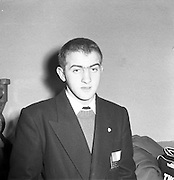 John Caldwell - Flyweight Boxer Leaves for Olympics in Melbourne.26/11/1956