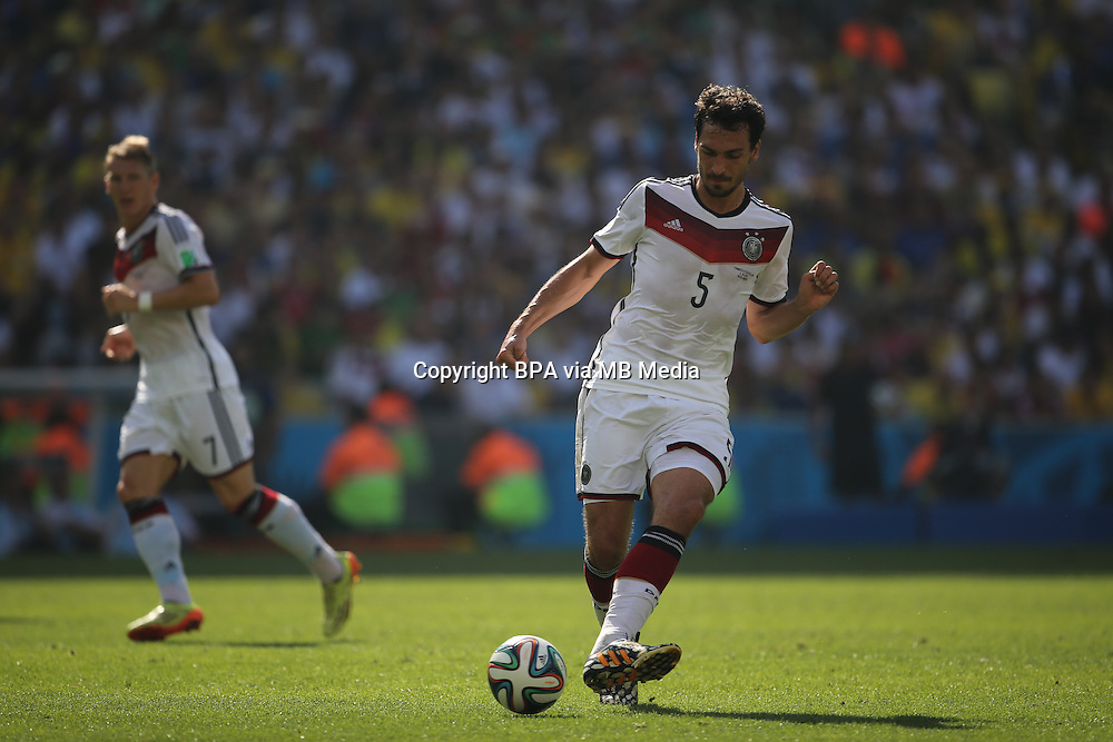 Mats Hummels. France v Germany, quarter-final. FIFA World Cup Brazil 2014. 4 July 2014