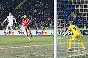 Marouane Fellaini Midfielder of Manchester United heads at goal during the Europa League match between Zorya Luhansk and Manchester United at Chornomorets Stadium, Shevchenko Park, Ukraine on 8 December 2016. Photo by Phil Duncan.