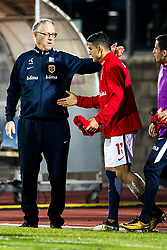 October 5, 2017 - San Marino, SAN MARINO - 171005 Lars Lagerbäck, head coach of Norway, and Mohamed Elyounoussi of Norway after the FIFA World Cup Qualifier match between San Marino and Norway on October 5, 2017 in San Marino. .Photo: Fredrik Varfjell / BILDBYRÃ…N / kod FV / 150027 (Credit Image: © Fredrik Varfjell/Bildbyran via ZUMA Wire)