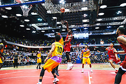 Marcus Delpeche of Bristol Flyers in action as Bristol Flyers play London Lions - Rogan/JMP - 14/10/2018 - BASKETBALL - Copper Box Arena - London, England - British Basketball All-Stars Championship 2018.