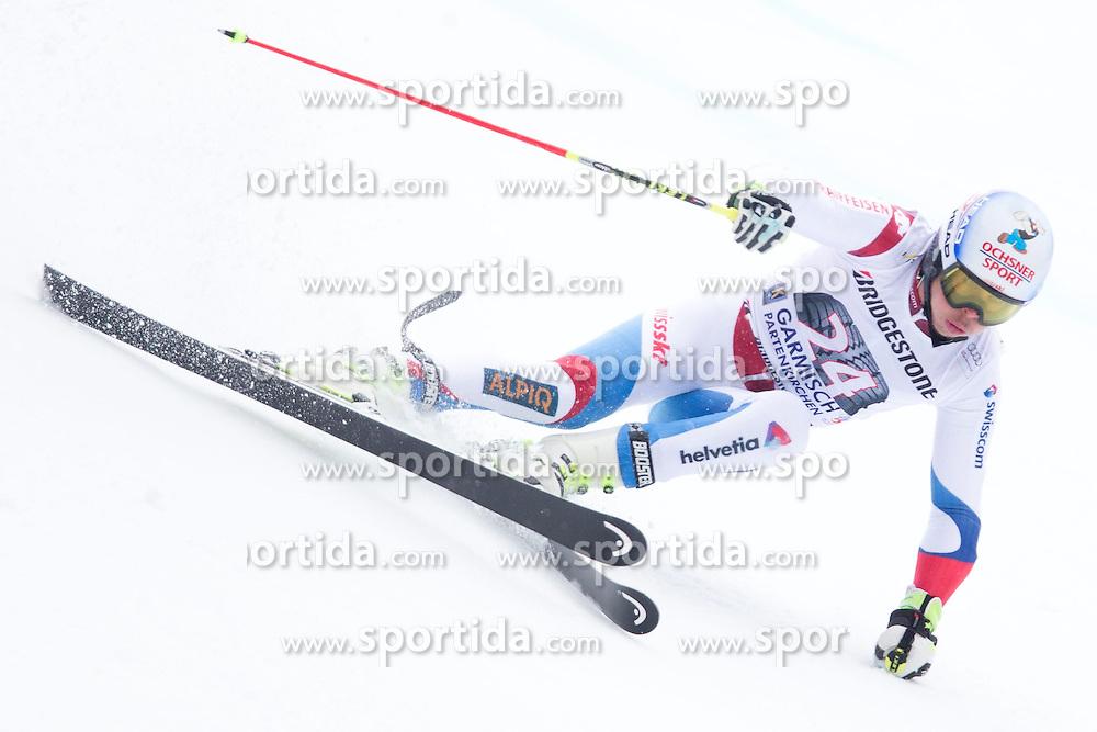 01.03.2015, Kandahar, Garmisch Partenkirchen, GER, FIS Weltcup Ski Alpin, Riesenslalom, Herren, 1. Lauf, im Bild Gino Caviezel (SUI) // Gino Caviezel of Switzerland in action during 1st run for the men's Giant Slalom of the FIS Ski Alpine World Cup at the Kandahar course, Garmisch Partenkirchen, Germany on 2015/03/01. EXPA Pictures © 2015, PhotoCredit: EXPA/ Johann Groder