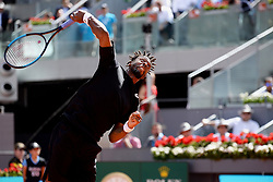 May 9, 2019 - Madrid, Spain - GaÃ«l Monfils (FRA) in his match against Roger Federer (SWI) during day six of the Mutua Madrid Open at La Caja Magica in Madrid on 9th May, 2019  (Credit Image: © Juan Carlos Lucas/NurPhoto via ZUMA Press)