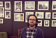 Karl in front of a Italian photowall at Eataly Restaurant in Oslo