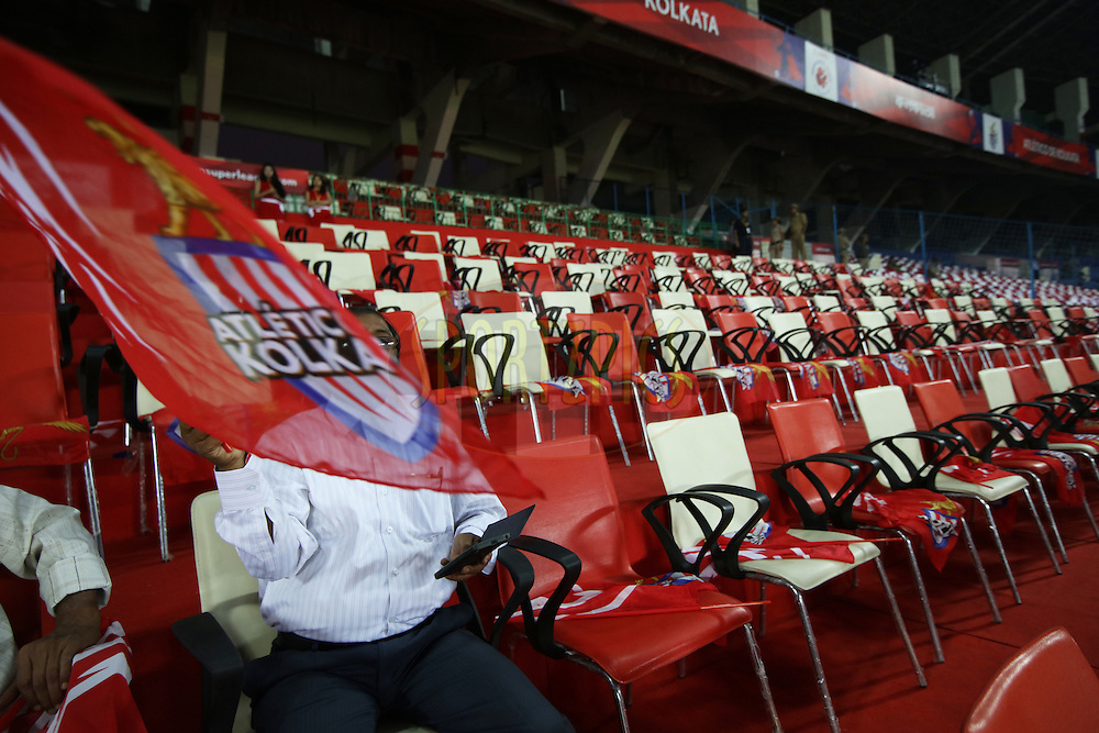 GV, Branding during match 48 of the Indian Super League (ISL) season 2  between Atl&eacute;tico de Kolkata and FC Pune City held at the Salt Lake Stadium, Kolkata, India on the 27th November 2015.<br /> <br /> Photo by Saikat Das / ISL/ SPORTZPICS