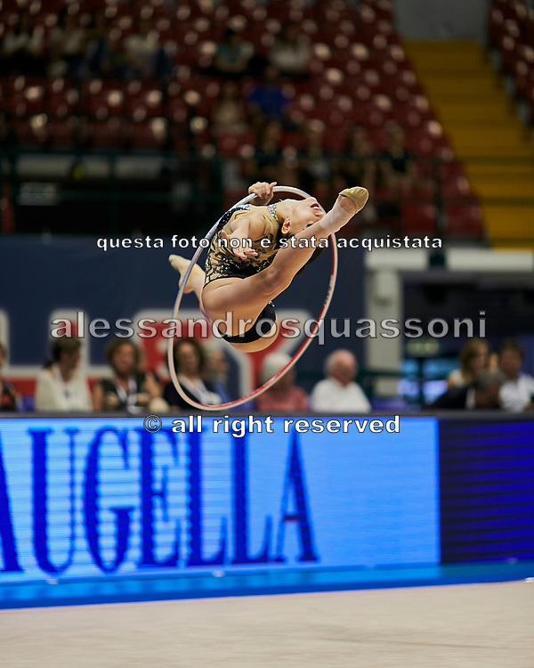 "Alessia Russo during the ""1st Trofeo Citta di Monza"" tournament. On this occasion we have seen the rhythmic gymnastics teams of Belarus and Italy challenge each other. The Bilateral period was only June 9, 2019 at the Candy Arena in Monza, Italy."
