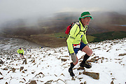"Tom O Toole from Ballintubber  Co. Mayo taking part in the ""Westport  Sea 2 Summit ""  adventure race on Croagh Patrick, where 1100 athletes ran, cycled and hiked 56km(summit) and (27km Ridge) in Co Mayo . Photo:Andrew Downes"